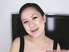Carmina is a gorgeous twenty year old Oriental student, with a cute little body and an extreme longing for rod. It appears that Carmina has sucked off about fifty guys! That's a large number for anybody still in college. This Hottie is too blessed with not having a gag reflex so that hottie is able to take a wang down her mouth out of an issue. Amazing! After that hottie unfathomable mouths my ramrod numerous times, I bow her over and fuck her constricted little shaved fur pie. This Hottie wants my load in her mouth, so shen gets on her knees and recieves my full cum discharged into her mouth and swallows it down. This Hottie is a fantastic schlong sucker and a great fucking lay.