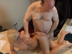 This juvenile golden-haired lady doctor knows well how to treat an old guy during the time that medical examination. That Honey applies him a modern therapy which consist in lengthy licking balls, intense 10-Pounder engulfing and fuck