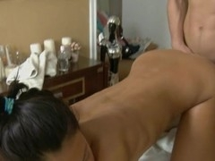 Stud could not resist from plowing beauty after massage
