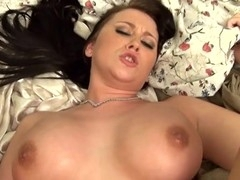 Honey sucks and strokes bulky penis in advance of bounding on it fast