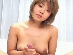 Damn this short hair Oriental sweetheart from Japan is fine, that sweetheart has a valuable slender body with the flawless pair of titties that any dude would want to cum all over like no the next day. Here u will watch this slut giving this guy all that babe's got with a stunning wang massage with lots of hawt tittie fucking. U will watch this slut getting into all sorts of hawt poses here with lots of penis gratifying!